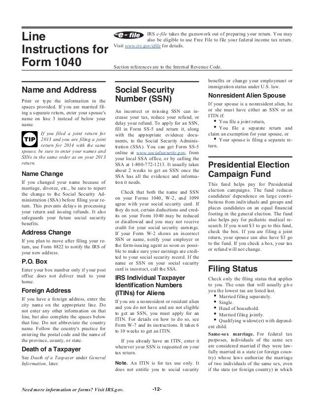 1040 Instructions Federal Income Tax Tax Forms Income Tax