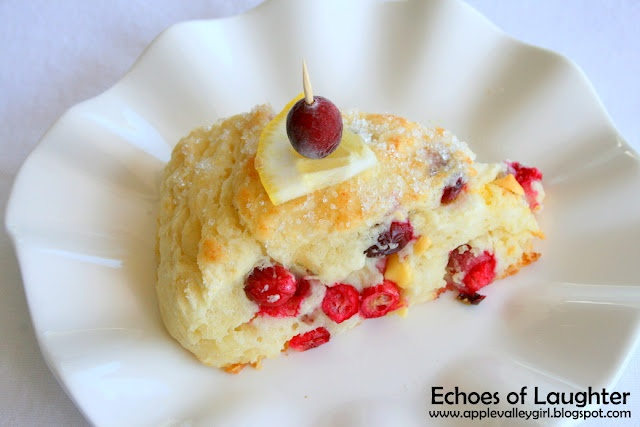 Luscious Lemon Chip & Sweet Cranberry Scones: Cranberry Scones, Sweet Cranberries, Sweets, Chips Sweet, Cranberries Scones, Luscious Lemon, Lemon Chips, Laughter, Echo