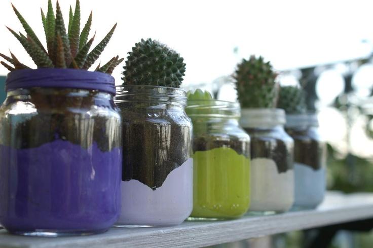 Vasetti colorati - Hand made coloured jars