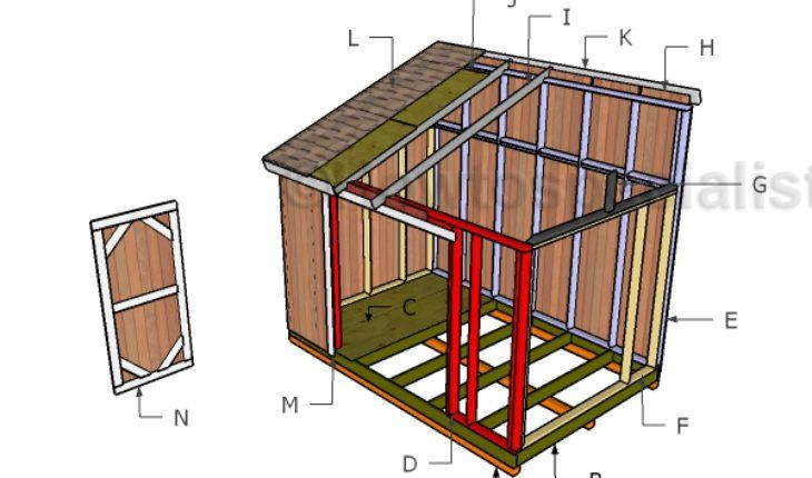 8 12 Lean To Shed Roof Plans Shed Plans Shed Doors Lean To Shed