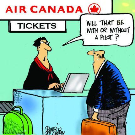 "Funny Air Canada ""Cartoon."""