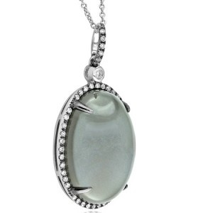 18kt #Diamond & #Moonstone #Pendant