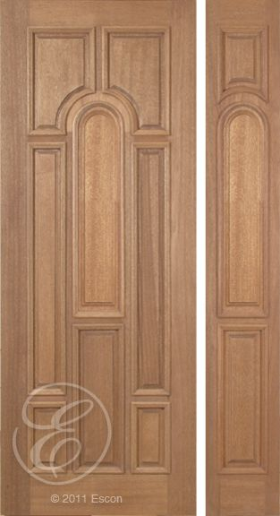 Exterior Solid Mahogany Excellent Revis Eight Panel u2013 8/0 Long Radius Plain Panel [ & 84 best Exterior Solid Mahogany Doors images on Pinterest | Entrance ...