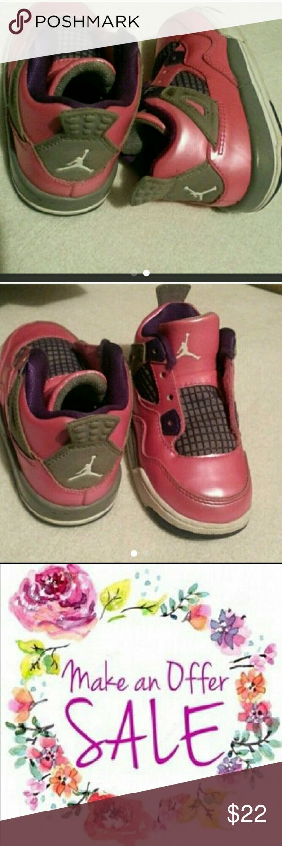 Pink and white Jordans size 6 toddler Good condition#BUNDLE  and  save# CLEARING  OUT # CLOSETCLEANOUT2016 #FREE  shipping Nike Shoes Baby & Walker
