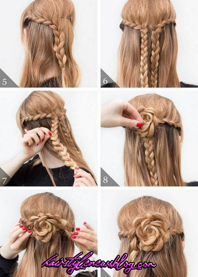 Fashionable Braid Hairstyle For Shoulder Length Hair Hairtutorialpasoapaso Hairtutorialillustration Hai In 2020 Shoulder Length Hair Hair Lengths Braided Hairstyles