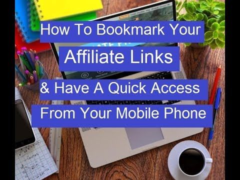 How To Bookmark Your Affiliate Links (APS) & Save It In Your Google Driv...