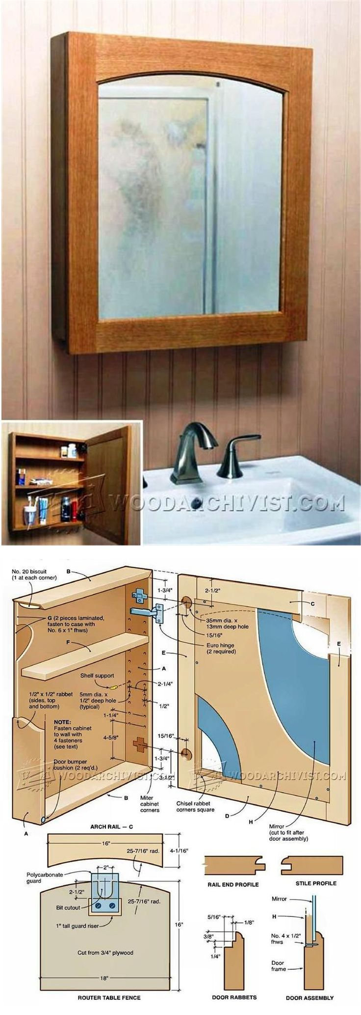 Classic Medicine Cabinet Plans - Furniture Plans and Projects | WoodArchivist.com
