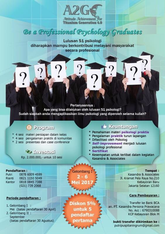 Workshop Be a Pro for psychology graduates and psychologist