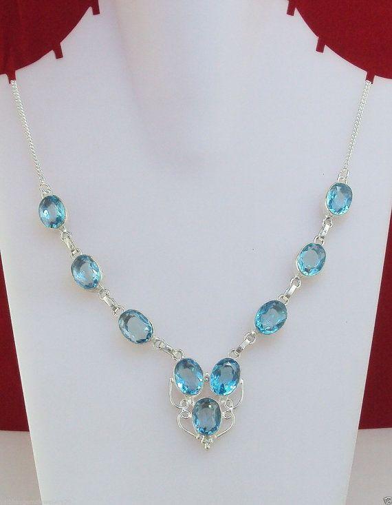 28 gram marvelous BLUE TOPAZ handmade necklace by YOURJEWELLERY https://www.etsy.com/in-en/shop/YOURJEWELLERY?ref=l2-shop-info-name