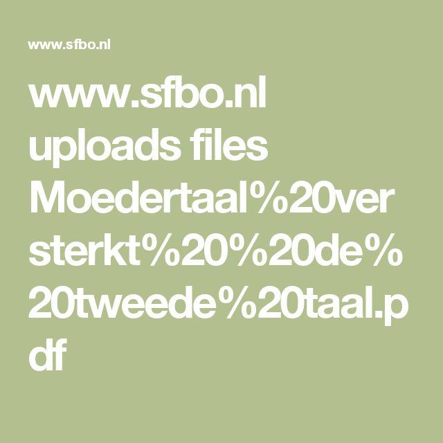 Moedertaal versterkt de tweede taal.pdf. (Scheele, 2010; Verhoeven, 2006, Cummins 2001)