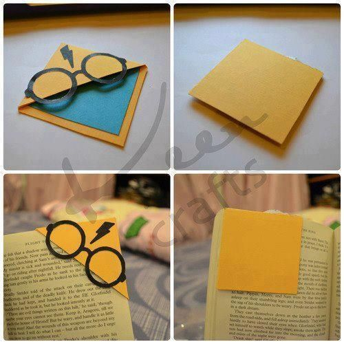Harry Potter Bookmarks #DIY #Easy #Crafts