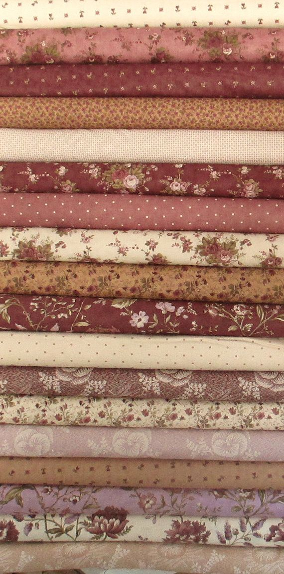 Plum Sweet Fat Quarter Bundle  Moda  by QuiltsFabricandmore,