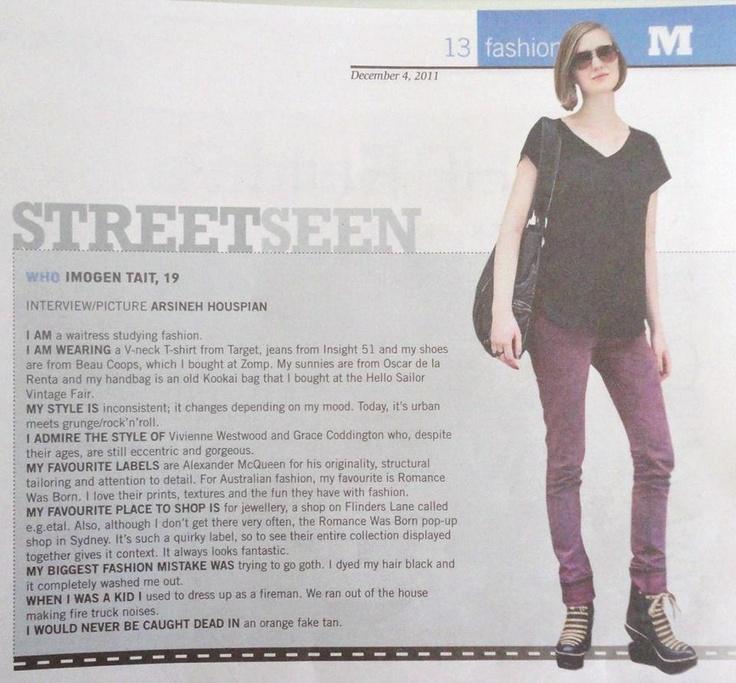 Imogen 2010 ~ we have such stylish staff