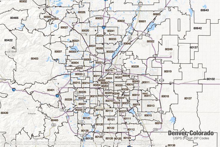 Pin by Joe F on Denver Historical Maps | Zip code map, Colorado, Denver
