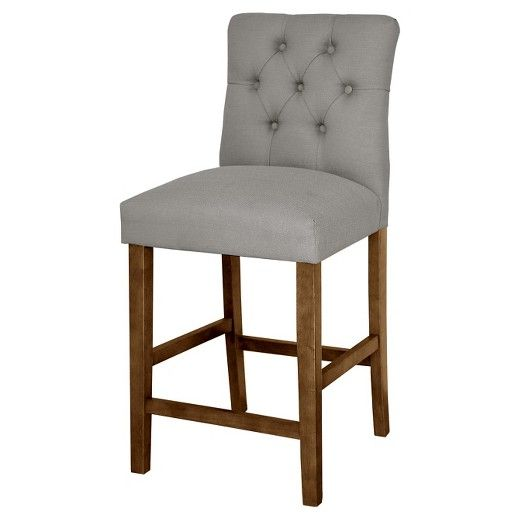 """• Padded foam seat & chair back<br>• Classic button tufting <br>• 25"""" tall stool<br>• Durable hardwood frame<br>• Variety of colors available<br><br>If you're looking for a gorgeous counter stool at an amazing value check out the 25-inch, Brookline Tufted Counter Stool. The details in the upholstery give this chair a classic style while the foam padding makes this chair the ultimate ratio of com..."""