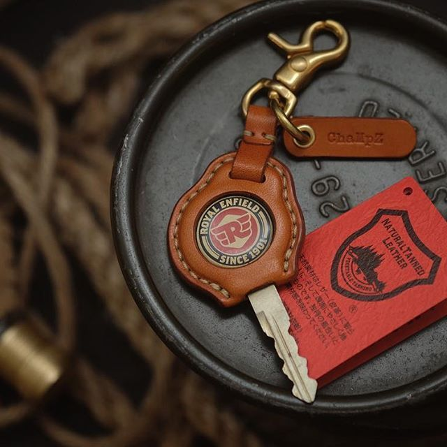 Royal Enfield key cover with tag name stamping service