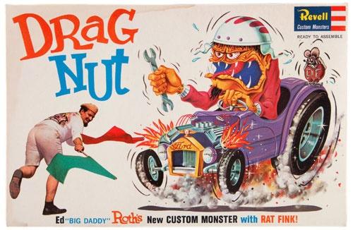 drag nut - ed big daddy roth - rat fink model kit