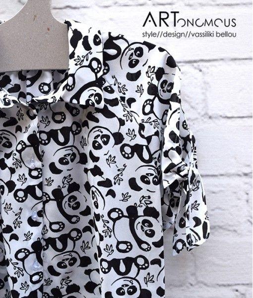 Panda printed shirt // artonomous.gr