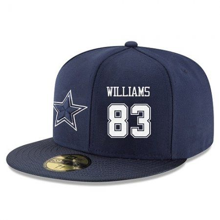 Dallas Cowboys Hat - Snapback 59 Fifty -#83 Terrence Williams Blue Embroidery
