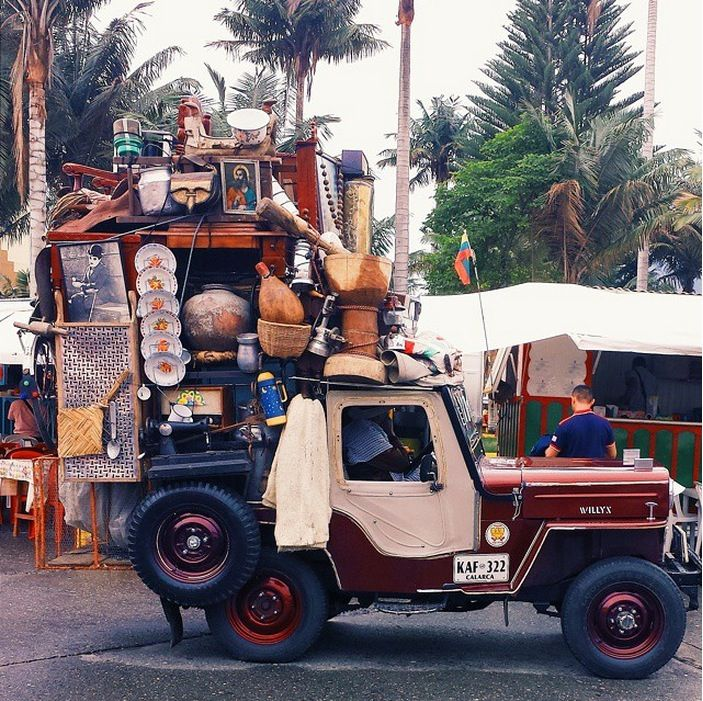 Everything And The Kitchen Sink colombia's beloved jeeps loaded with everything but the kitchen