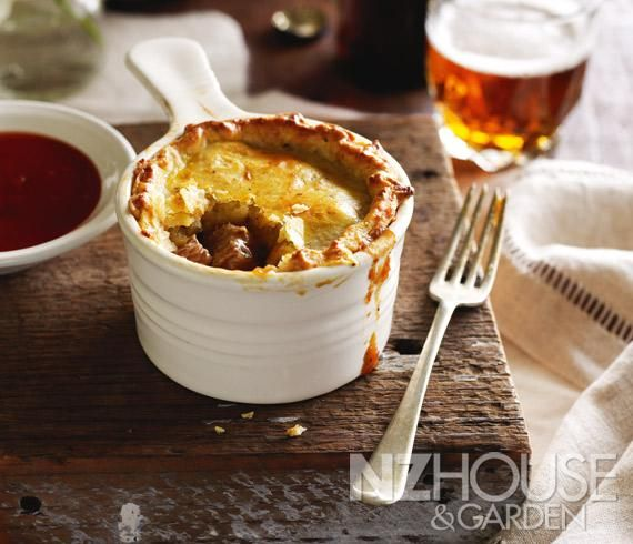 Beef Pot Pies with Parmesan and Black Pepper Pastry