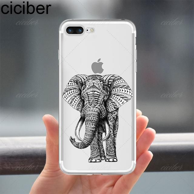 Elephant Design Soft Silicone Phone Cases  For Iphone - Kaptelli Store