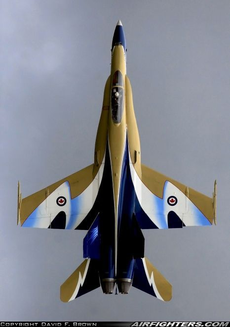 """Royal Canadian Air Force McDonnell-Douglas CF-188A Hornet in """"Century of Canadian Flight"""" livery"""