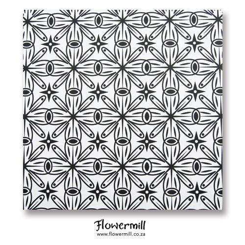 Black Star Burst Gift Wrap www.flowermill.co.za