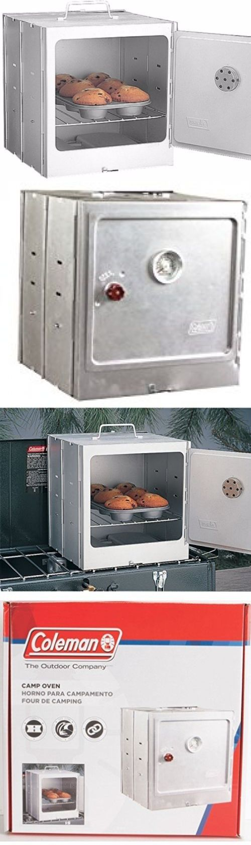 Camping Ovens 181387: Camping Equipment And Supplies Coleman Camp Oven Outdoor Cooking Tailgating BUY IT NOW ONLY: $42.99