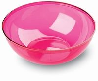 27cm large raspberry pink plastic serving bowls from Mozaik by Sabert, perfect for entertaining or for casual occasions such as barbeques or picnics and look great mixed with our other colours such as turquoise blue or orange. Designed to be disposable but can be reused with careful washing.