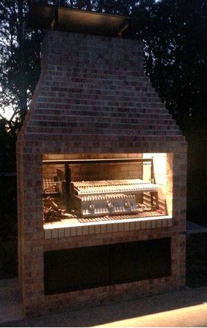 Gaucho Grill  argentine masonry insert 38  Outdoor