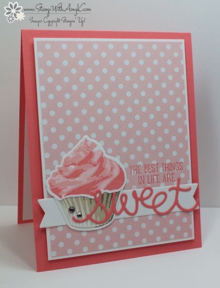 Stampin' Up! Sweet Cupcake for CAS(E) this Sketch