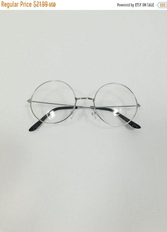 8755f9628afb ... Vintage Silver Clear Round Classic Standard Transparent Fashion Classic  Big Spectacle Sunglasses Frame Lens Glasses Frame by WearingMeOutVtg on Etsy