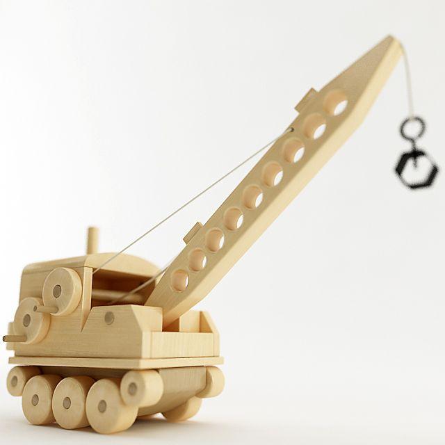 Toy Wood Crane by PLutonius.deviantart.com on @DeviantArt