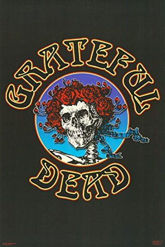 Grateful Dead Skull and Roses Classic Psychedelic Rock Music Poster Print 24 by 36