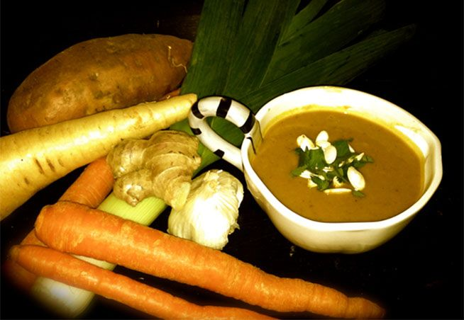 Spicy Roots Soup | not a thermomix recipe but I'll make mine in the thermie.
