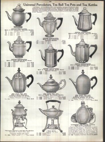 1915-AD-Universal-Coffee-Percolators-Tea-Ball-Samovar-Columbia-Chafing-Dish