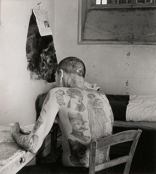 Robert Doisneau. Tattooed Man, 1952.