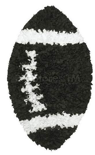Shaggy Raggy Kids Area Rug With Football Pattern   The Rug Market America