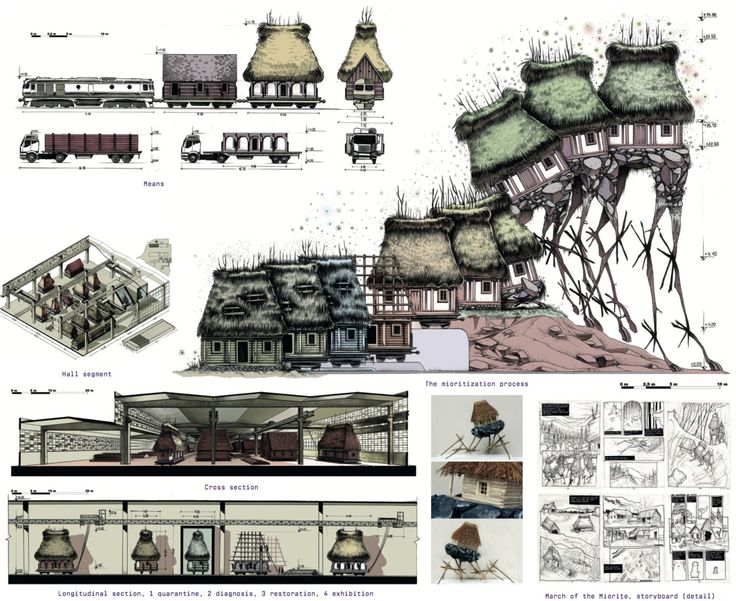 "Are These ""The World's Best Graduation Projects"" of 2017?,'A Different Kind of Museum' by Andrei Puică (Timisoara, Romania) recycles abandoned rural homes. The plan addresses conservation, modernity, urbanization and cultural identity in one gesture. The project was selected as participants' favorite (19 votes). Image Courtesy of Archiprix International"