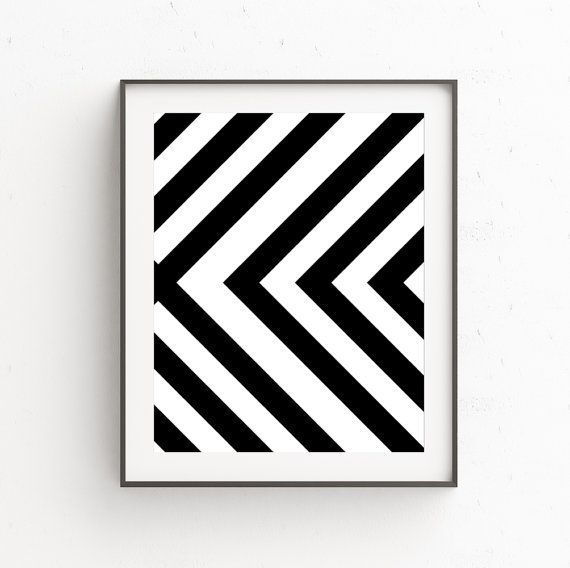 Black and White Print, Modern Scandinavian Wall Art, Black White Geometric, Printable Art, Black White Wall Art Decor, Scandinavian Poster