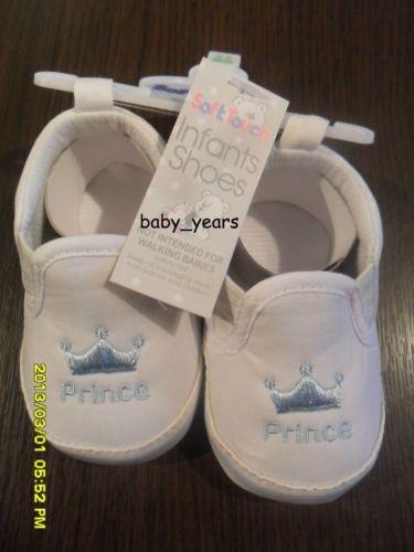 BABY-INFANT-BOYS-PRAM-SHOE-TRAINER-BLUE-WHITE-RED-NAVY-KEEP-CALM-MUM-DAD-PRINCE