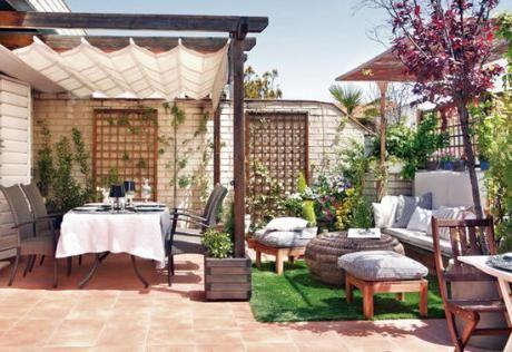 Paisajismo pergora peque a en patio peque o buscar con - Ideas para jardin pequeno ...