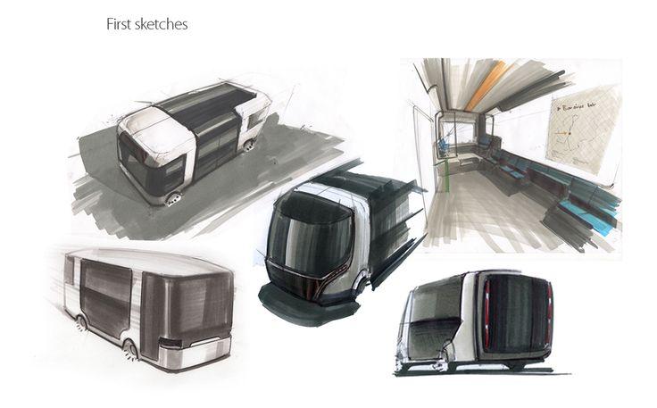 Modulo Bus on Behance #designsketch