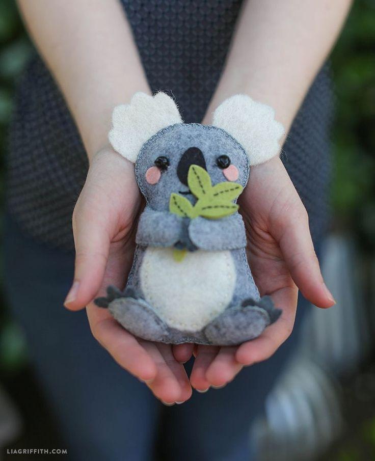 DIY Felt Koala Stuffed Animal - FREE Pattern and Tutorial