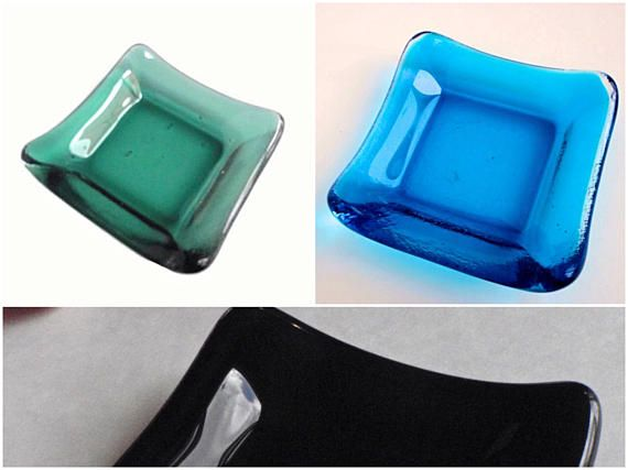 Now you can order and choose your soy sauce and condomint dish color in the same window! - Handmade Sushi Plate  - Soy Sauce Dish   Glass Dish - Kitchen Decor