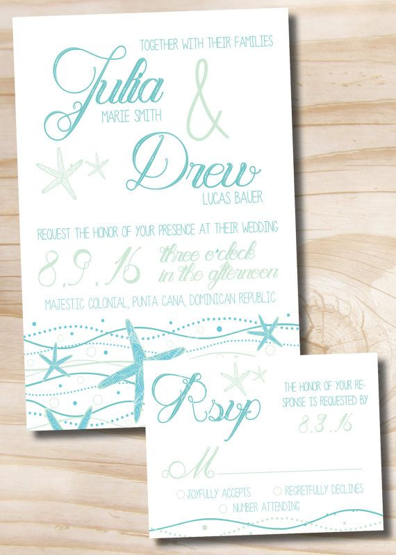 STARFISH DESTINATION Wedding by PaperHeartCompany on Etsy, $200.00