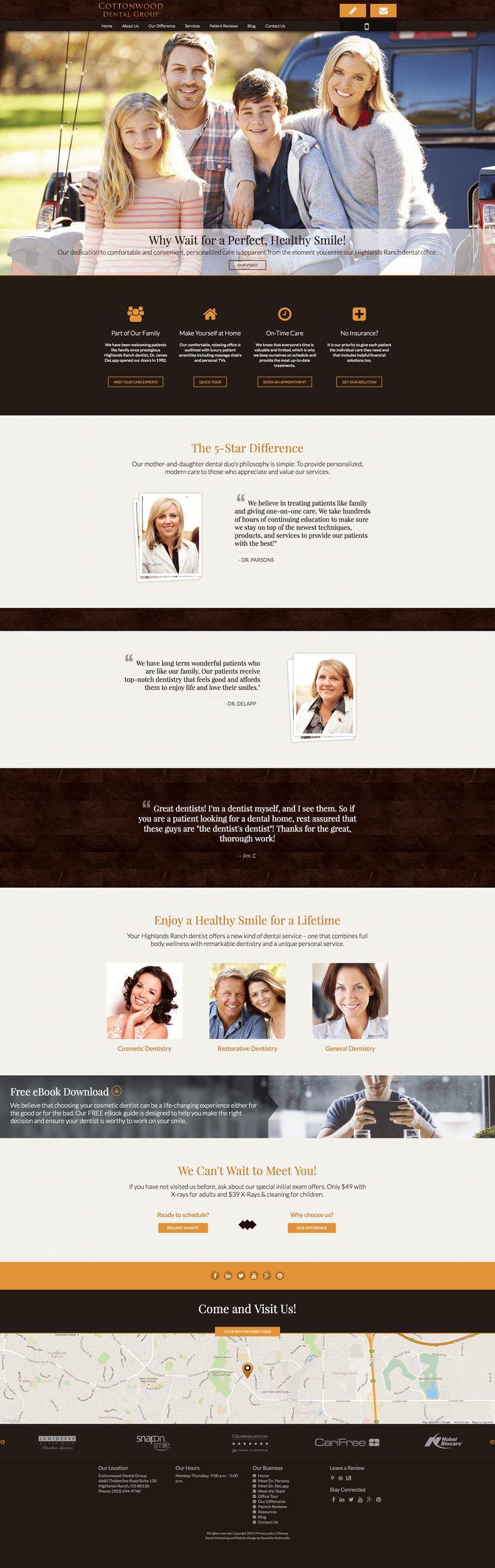 Cottonwood Dental Group: Class & Elegance | Dental Websites