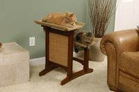 Cat Furniture - Trees, Perches, Condos - American Craftsman Series - Deluxe Double Cat Tree- Shown in Cherry