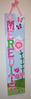 cute DIY personalized growth chart that can go anywhere.  I really need to make this for Anya!